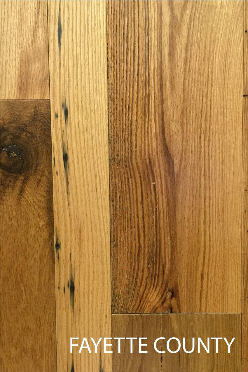 Fayette County Heirloom Domestic Oak Reclaimed Barn Wood Flooring