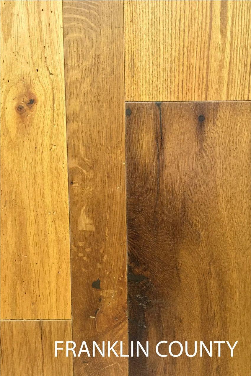Franklin County Heirloom Domestic Oak Reclaimed Barn Wood Flooring