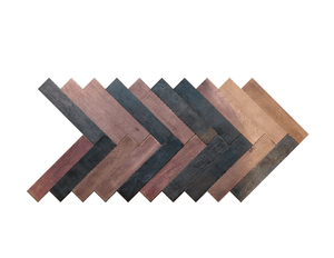 Herringbone Reclaimed Wine Soaked Oak Wine Barrel Wall Panels