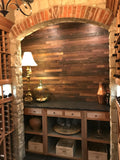 15sf Reclaimed Wine Soaked Stacked Wall Panels