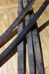 used whiskey barrel cask staves