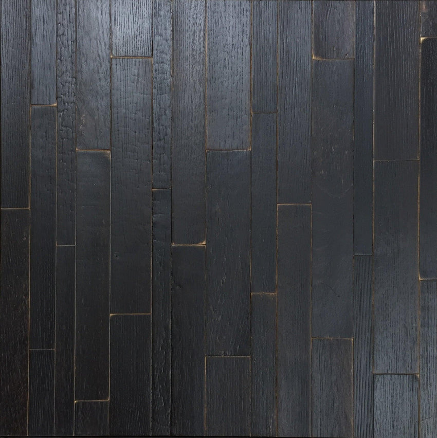 1sf Charred Oak Whiskey Barrel Stave Flooring Sample