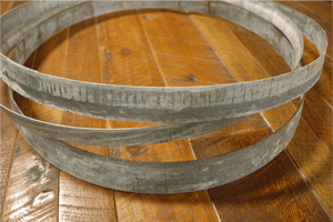 Wine Barrel Metal Hoop Band Rings 3 Pack, Wine Barrel, Antique Barrel Collection