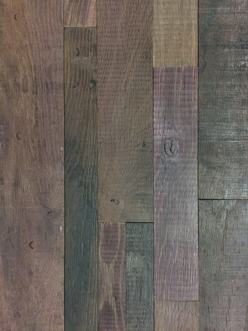 Reclaimed Wine Soaked Oak Wine Barrel Stacked Wall Panels, Reclaimed Wood Wall Paneling, Antique Barrel Collection