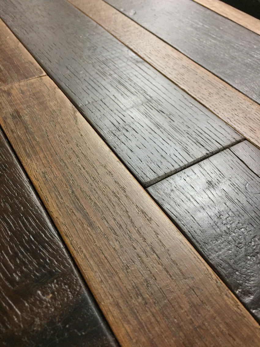 Red Wine Soaked Wine Barrel Oak Flooring Sample