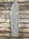 Grey Open Hem Sweatpants