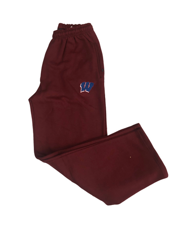Maroon Open Hem Sweatpants
