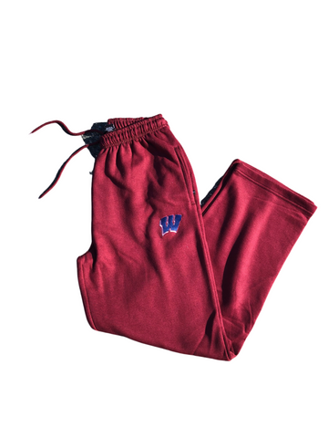 Maroon W Open Hem Sweatpants