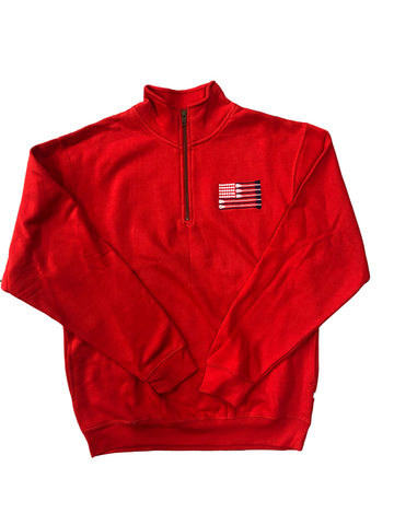 USA 1/4 Zip Sweatshirt