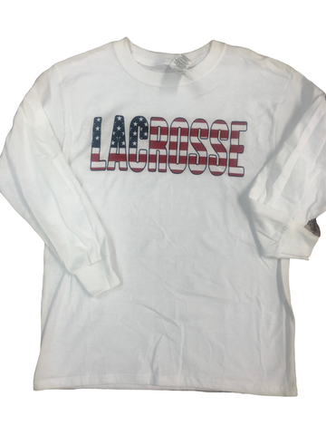 Long Sleeve USA Lacrosse T-Shirt