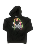 Lace-up Hoodie w/ Black and White Logo