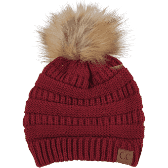 CC Beanie Hat with Pom Pom