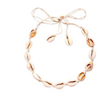 White Shell Braided Choker Necklace
