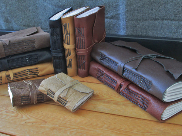 Custom Leather Journals, Choose Size & Color