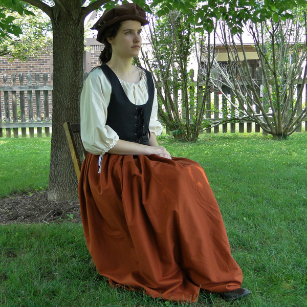 Renaissance Dress SET 3 Piece Costume: Bodice, Chemise & Skirt, 5 Colors
