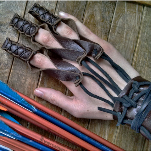1 Archery Glove Shooting Leather Draw Hand Glove - Choose Your Size & Color