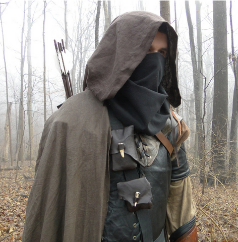 Linen Hooded Cloaks, Renaissance Medieval Cape - Ranger - Choose Your Color