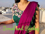 Beautiful Bottle Green Handwork Blouse - BL00027