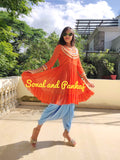 Fusion Of Short Kurta & Dhoti- FL00376