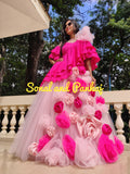 Baby Pink Lehenga With Hot Pink Blouse - LH00381