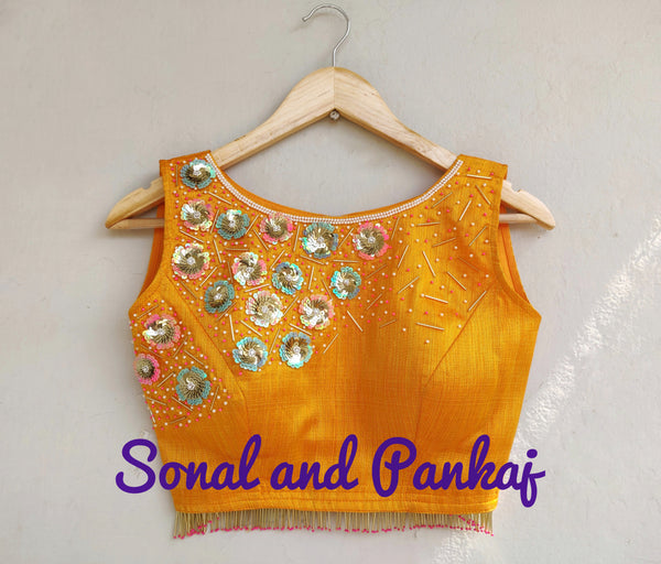 Beautiful Mustard Handwork Blouse - BL00013