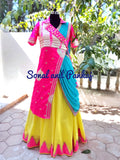 Beautiful Lehenga & Tie & Dye Jacket Blouse From Our Traditions Of India Collection - LH00392