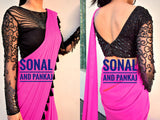 Black Party Wear Hand Embroidered Blouse - BL00029