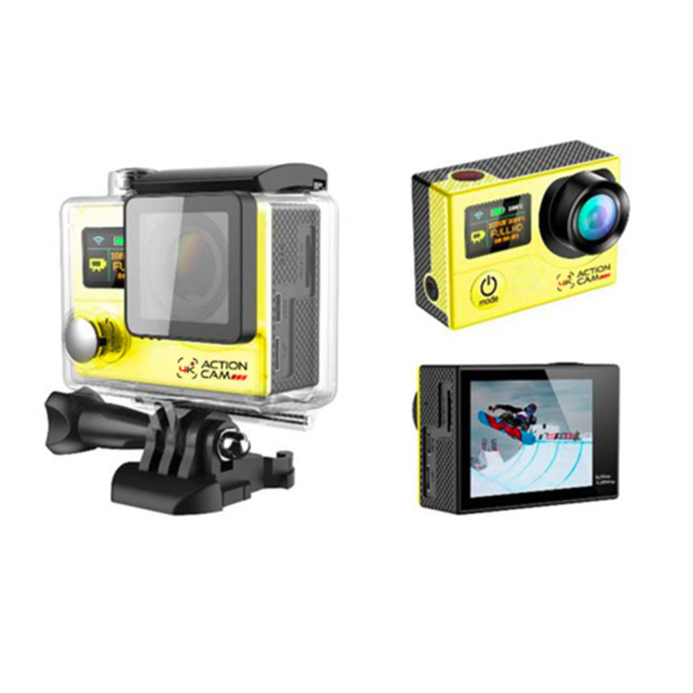 Dual Screen 4k Action Cam (Yellow)