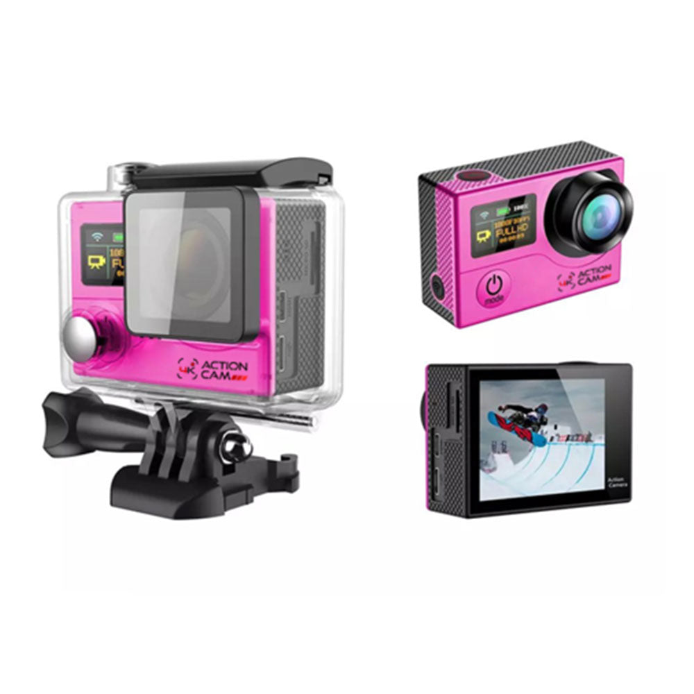 Dual Screen 4k Action Cam (Pink)