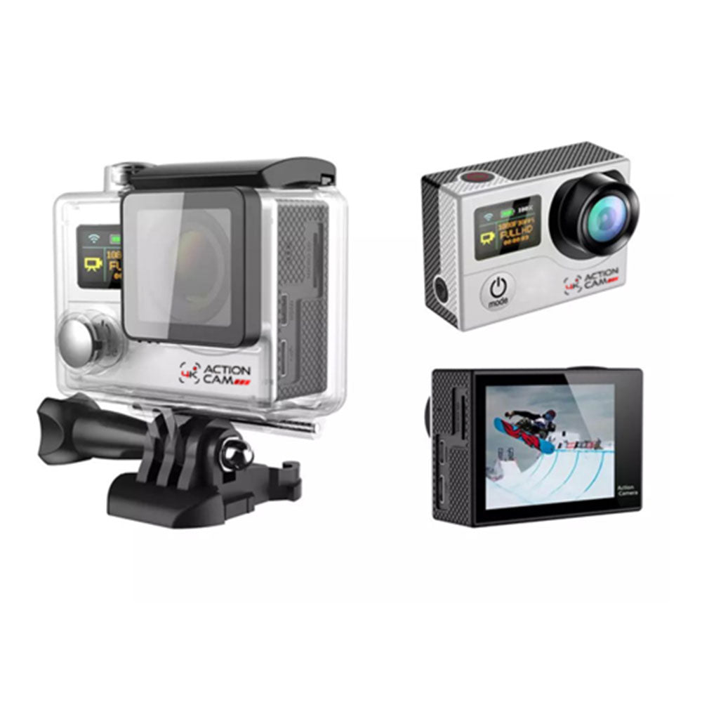 Dual Screen 4k Action Cam (Silver)