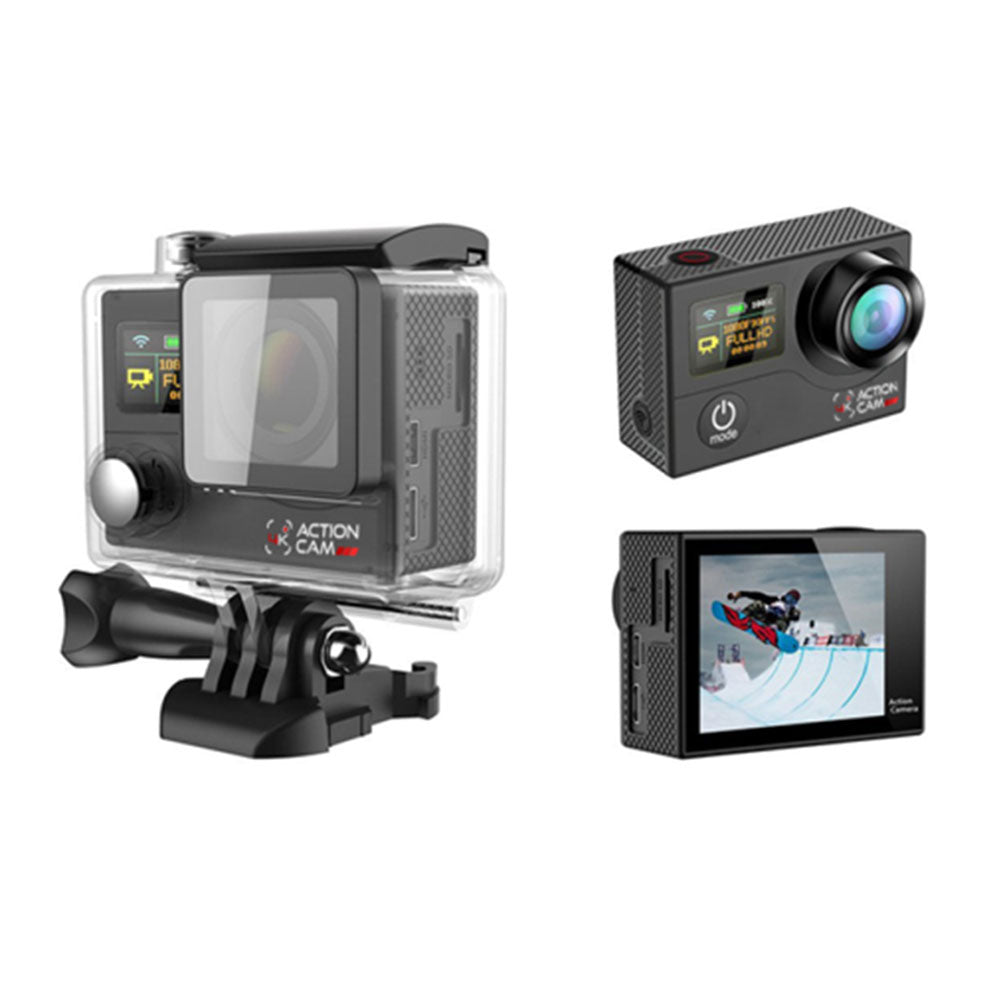 Dual Screen 4k Action Cam (Black)