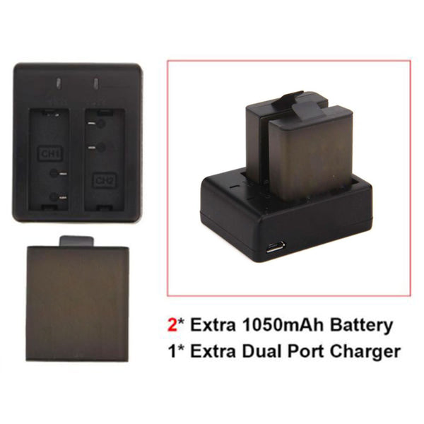 Dual Battery Charger (With 2 Extra Batteries)
