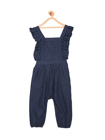 Ruffled Denim Dungaree
