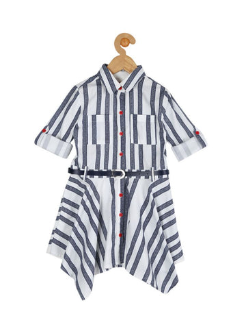 Stripe-Shirt-Dress