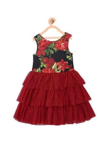 Girls Knee Length Party Dress