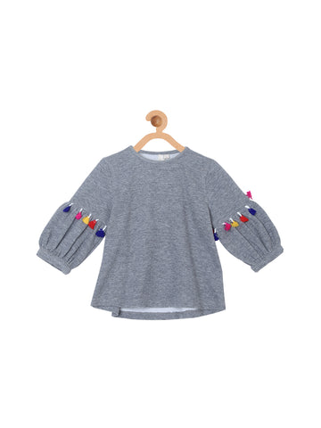 Lantern Shape 3/4Th Sleeve Top