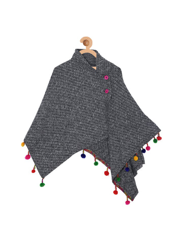 Dark Grey Poncho Top