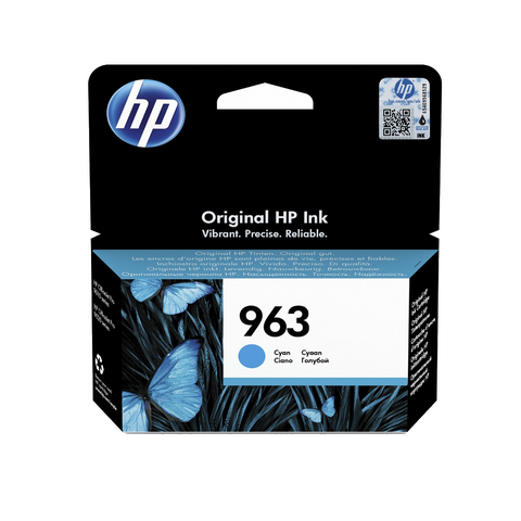 Cartouche d'encre de couleur d'origine HP 963 cyan - 3JA23AE - Officepartner.fr