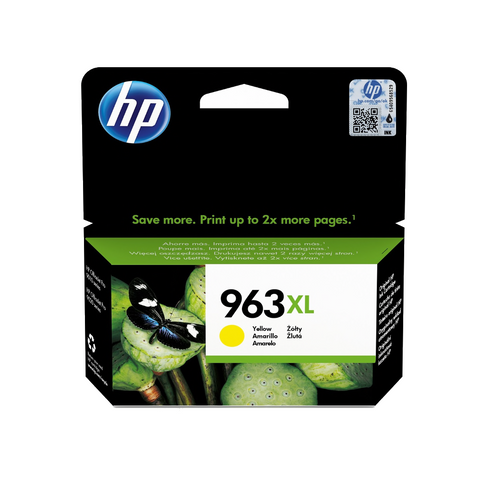 Cartouche d'encre couleur d'origine HP 963XL jaune - 3JA29AE - officepartner.fr