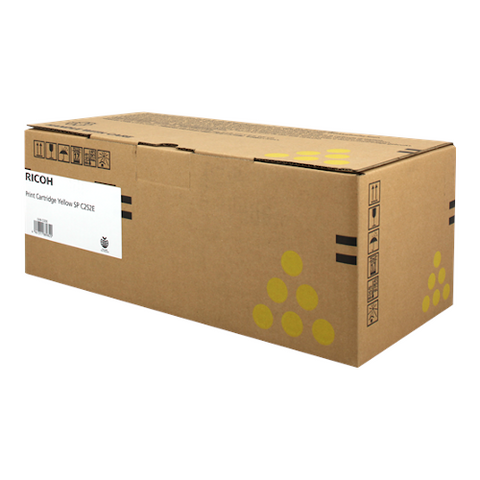 Cartouche de toner d'origine Ricoh SP C252 E jaune - 407534 - OfficePartner.fr