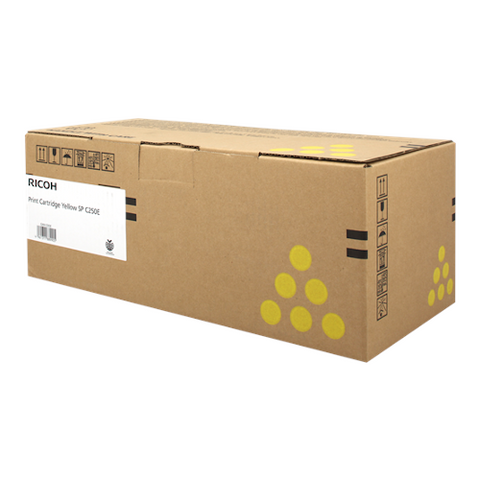 Cartouche de toner d'origine Ricoh SP C250 E jaune - 407546 - OfficePartner.fr