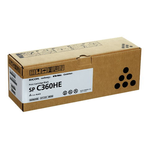 Cartouche de toner d'origine Ricoh SP C360 HE noir - 408184 - OfficePartner.fr