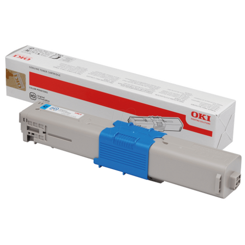 Cartouche de toner d'origine OKI cyan 44469706 - officepartner.fr