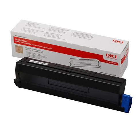 cartouche de toner d'origine OKI noir 44574702 - officepartner.fr