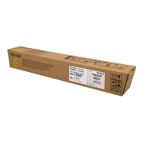 Cartouche de toner d'origine Ricoh MP C3503 jaune - 841818 - OfficePartner.fr