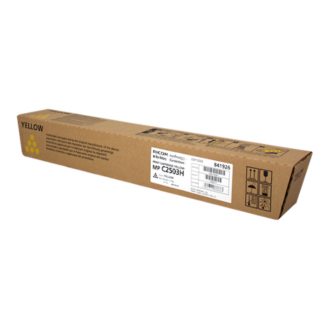 Cartouche de toner d'origine Ricoh MP C2503 jaune - 841926 - OfficePartner.fr