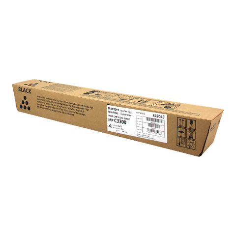 Cartouche de toner d'origine Ricoh MP C3300 noir - 842043/841124 - OfficePartner.fr