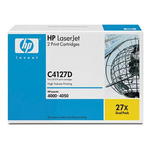 Cartouche de toner d'origine HP 27X noir (pack de 2) - C4127D - OfficePartner.fr