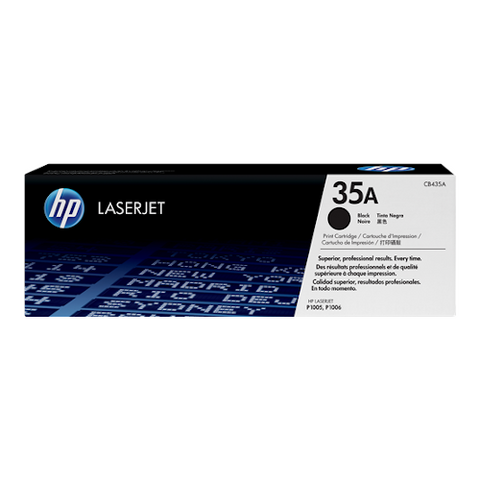 Cartouche de toner d'origine HP 35A noir - CB435A - OfficePartner.fr