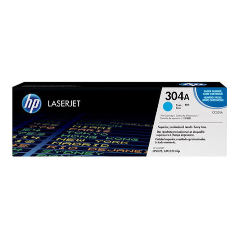 Cartouche de toner d'origine HP 304A cyan - CC531A - OfficePartner.fr